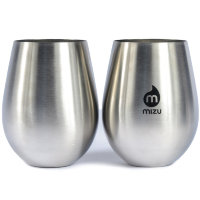 Бокал MIZU Mizu Wine Cup Set (2) A/S Stainless W Black Print