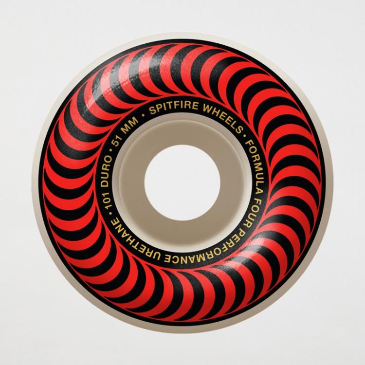 Купить Колеса для скейтборда SPITFIRE F4 Classic Red, Сша
