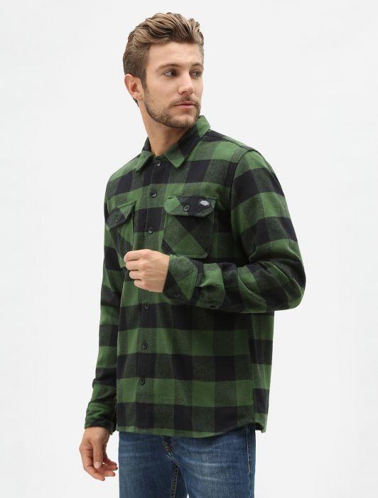Рубашка DICKIES Sacramento Relaxed Long Sleeve Shirt Pine Green 2020