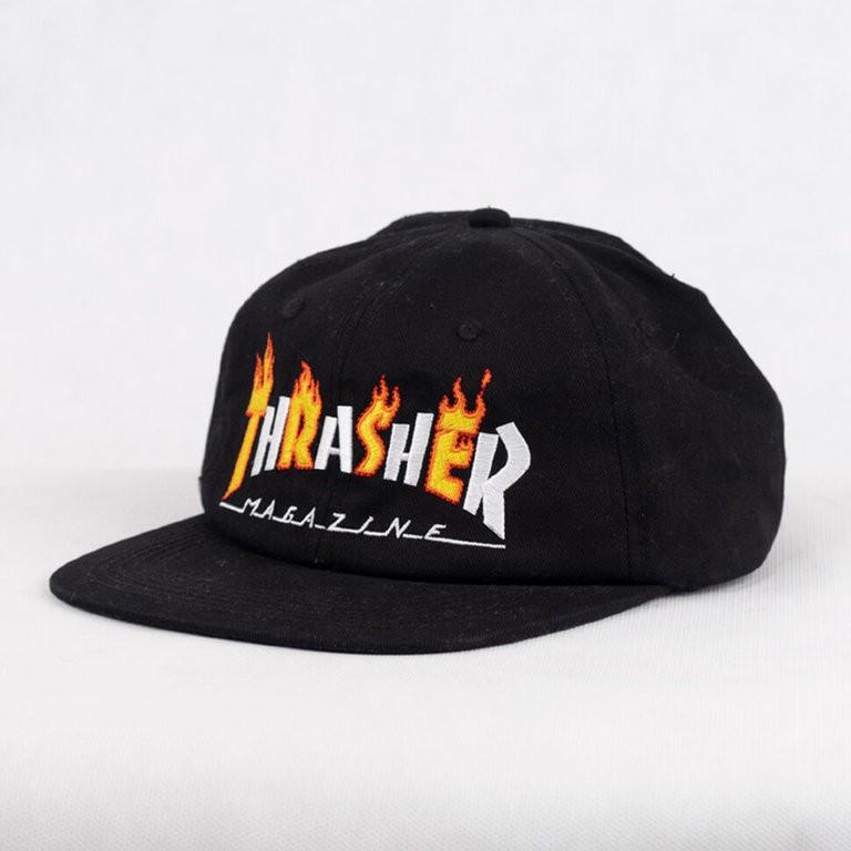 Кепка THRASHER Flame Snapback Black 2021