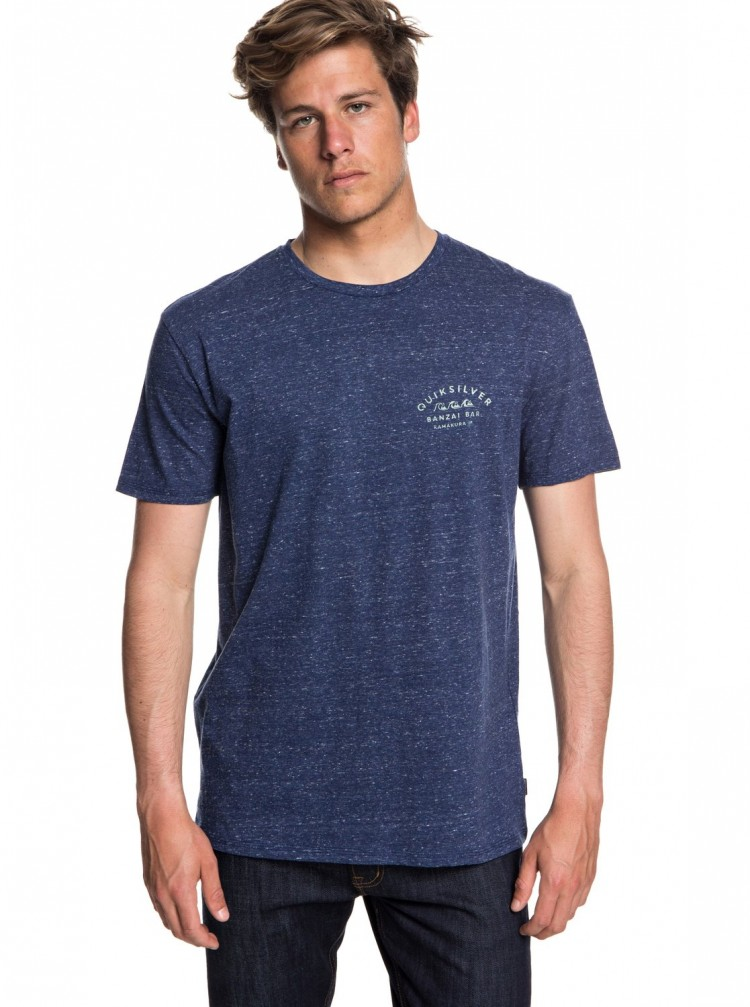 Купить Футболка QUIKSILVER Banzaibar M Medieval Blue Heather, Индия