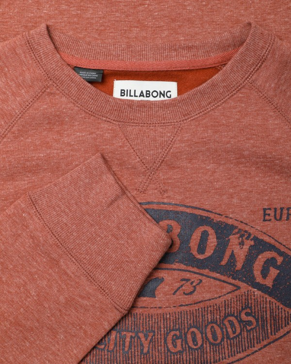 Флисовый свитшот мужской BILLABONG Guardiant Crew Rustic Red, фото 5