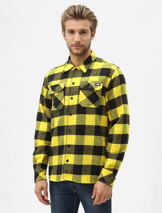 Рубашка DICKIES Sacramento Relaxed Long Sleeve Shirt Yellow 2020