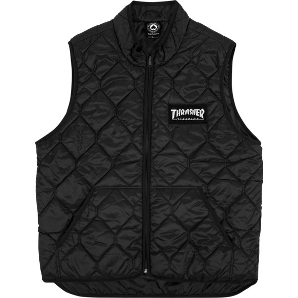 Жилет THRASHER Magazine Logo Vest Black 2020, фото 1