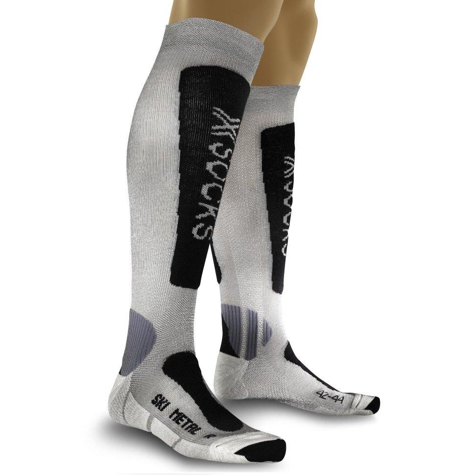 Термоноски X-SOCKS Ski Silk-Merino Socks Lady Grey/Fuchsia фото