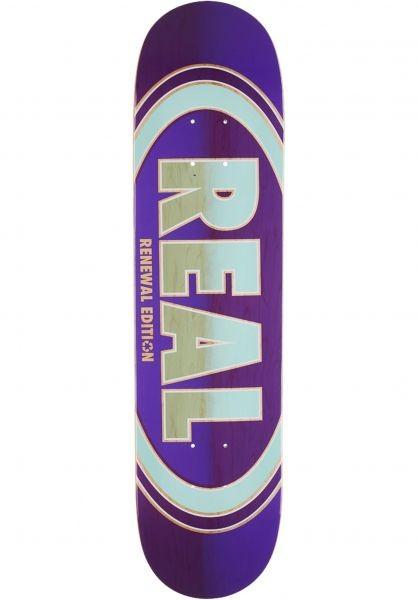 Купить Дека для скейтборда REAL SKATEBOARDS Brd OvalDuo Fade Pp Purple 7.5 , Мексика