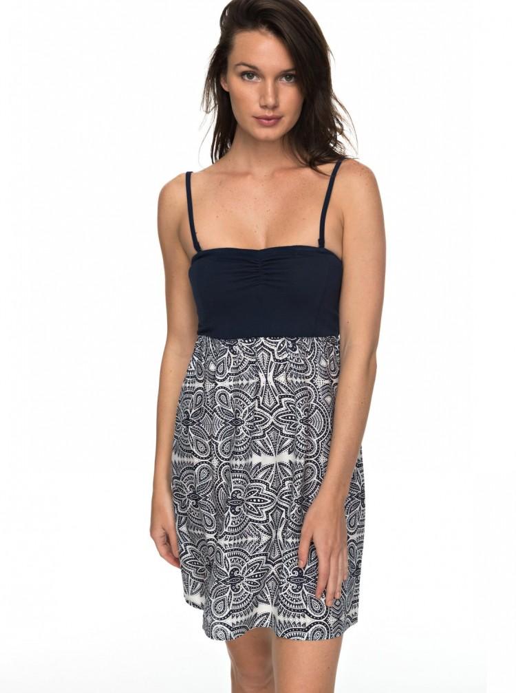 Купить Платье женское ROXY Oceanromance J Marshmallow Tribal Vibes Strip, Индия