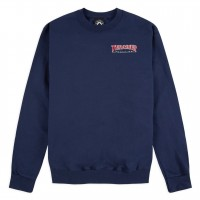 Свитшот THRASHER Embroidered Outlined Longsleeve Navy Blue