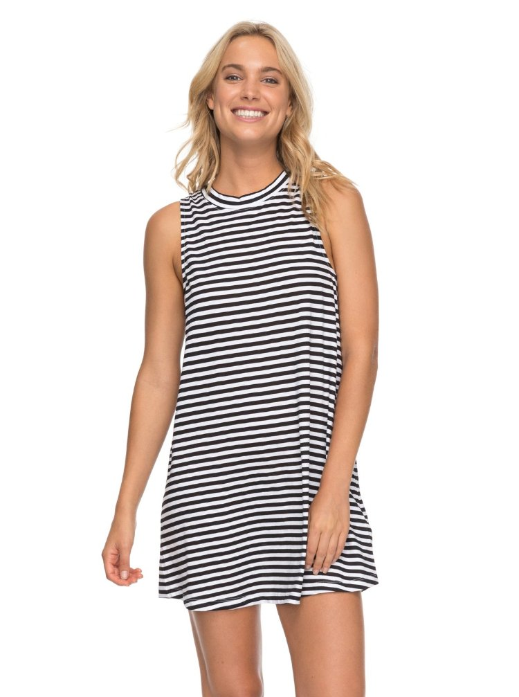 Купить Платье женское ROXY Ro Sh Te Dr J Bright White Basic Stripe, Индия
