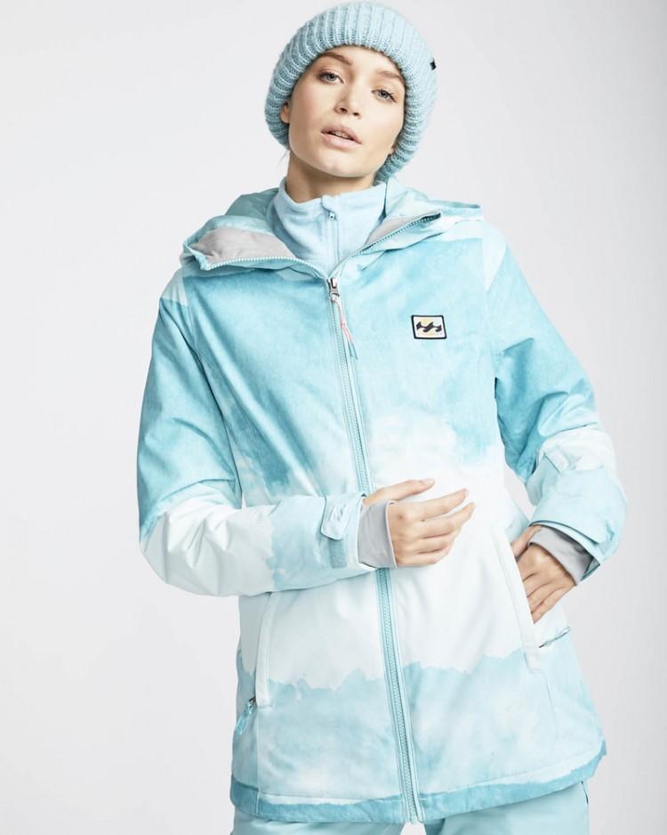 Купить Куртка для сноуборда женская BILLABONG Sula Printed Nile Blue, Вьетнам