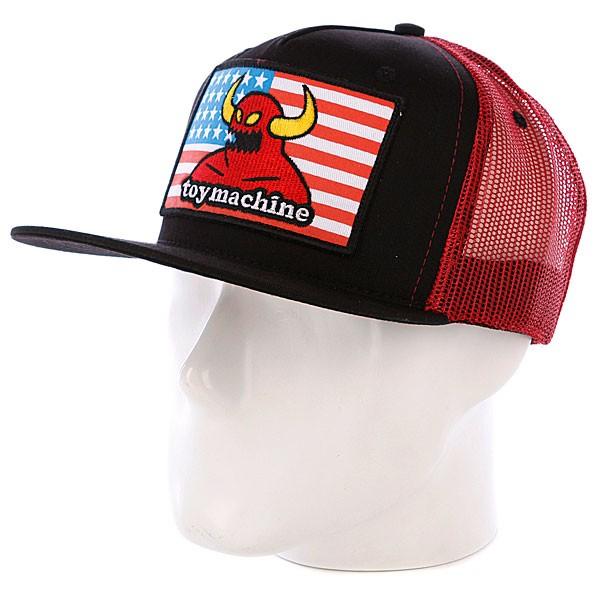 Купить Кепка TOY MACHINE American Monster Mesh Cap RED, Китай