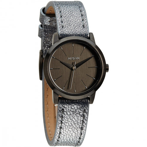 Купить Часы NIXON Kenzi Leather A/S Gunmetal/Blue Shimmer, Китай