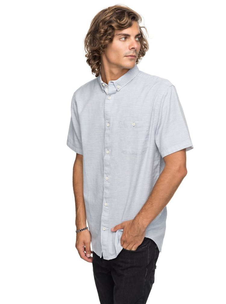 Купить Рубашка мужская QUIKSILVER Waterfallsupdat M Vintage Indigo, Индия