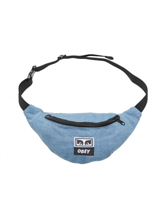 Сумка на пояс OBEY Waisted Hip Bag Denim, фото 2
