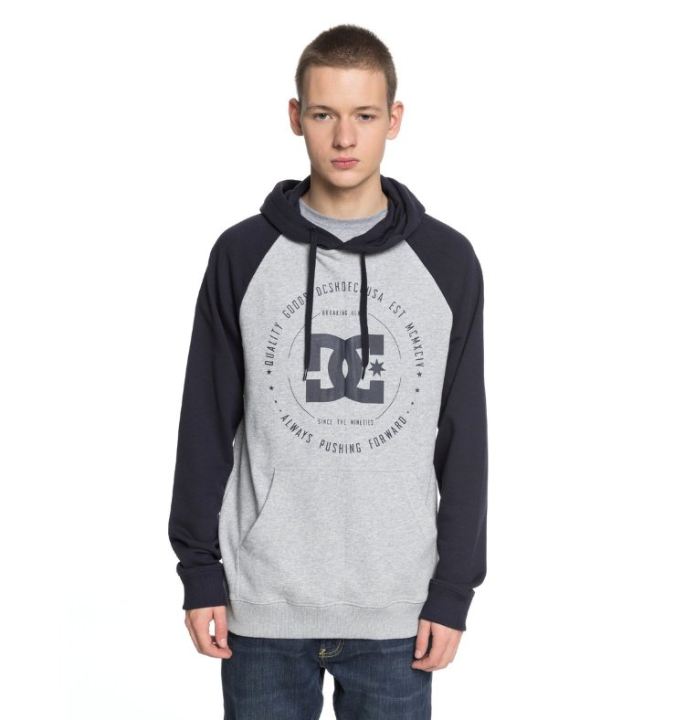 Купить Джемпер мужской DC SHOES Rebuilt Ph Ragl M Dark Indigo/ Heather Grey, Пакистан
