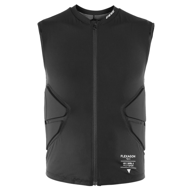 Жилет защитный для сноуборда DAINESE Flexagon Waistcoat Man Stretch-Limo/Stretch-Limo 2020 фото