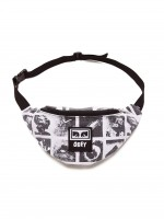 Сумка на пояс OBEY Waisted Hip Bag Zine White Multi