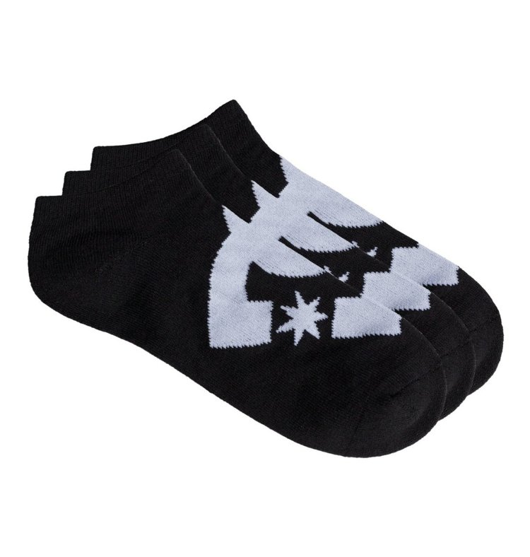 Купить Носки мужские упаковка из 3 пар DC SHOES Spp Dc Ankle 3P M Black, Китай
