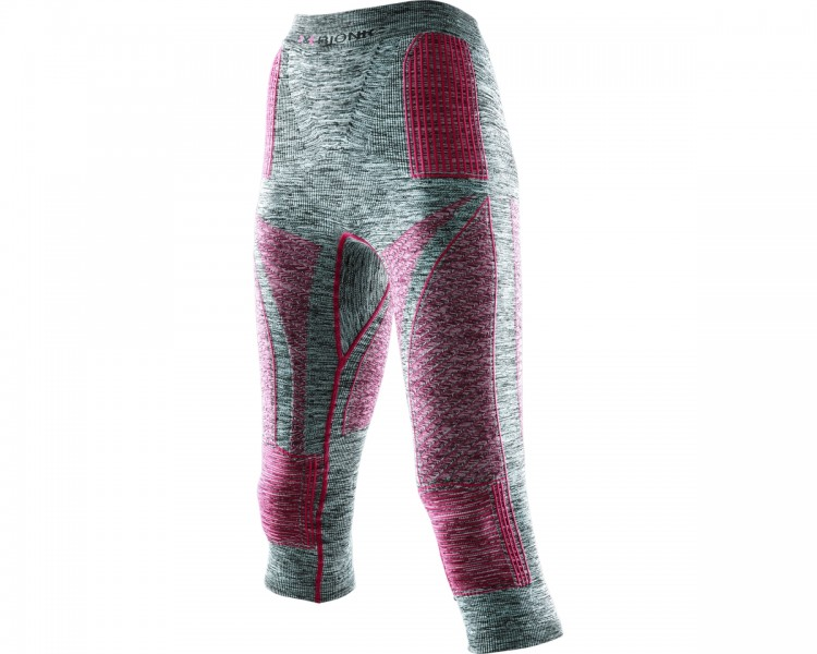 Термоштаны X-BIONIC Lady Acc Evo Melange Uw Pants Medium Light Grey Melange/Raspberry, Италия  - купить со скидкой