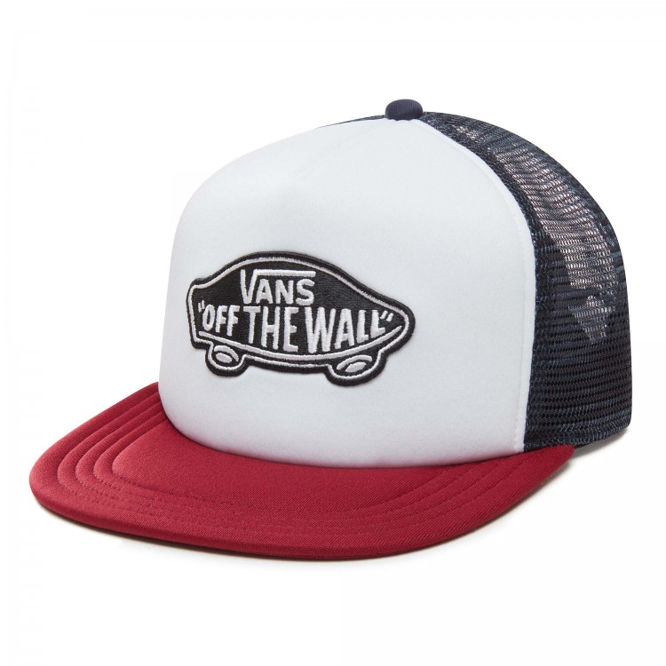Кепка VANS Mn Classic Patch Trucker White/Rhumba, фото 1
