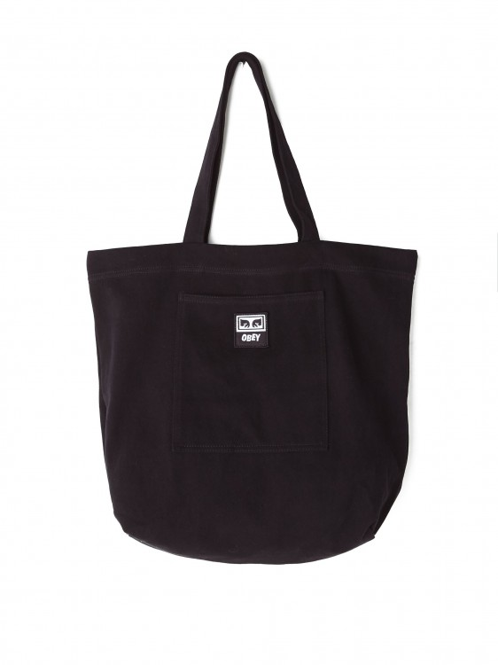 Сумка OBEY Wasted Tote Bag Black Twill, фото 1