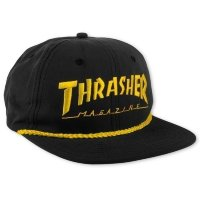 Бейсболка Thrasher Rope Snapback Black