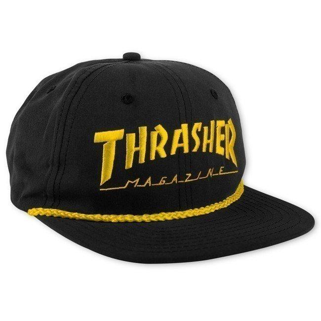 Купить Бейсболка Thrasher Rope Snapback Black