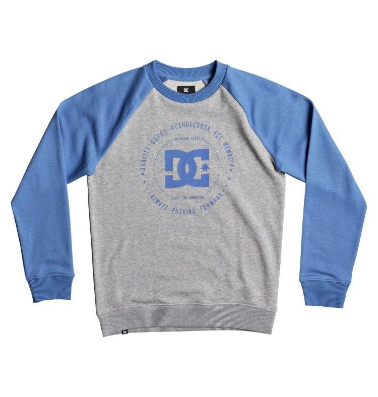 Купить Джемпер для мальчиков-подростков DC SHOES Rebuil Cr Rag B Campanula/ Grey Heather, Пакистан
