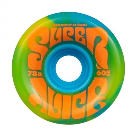 Колеса для лонгборда OJ Super Juice Blue Yellow Swirl 78a 60мм Santa Cruz