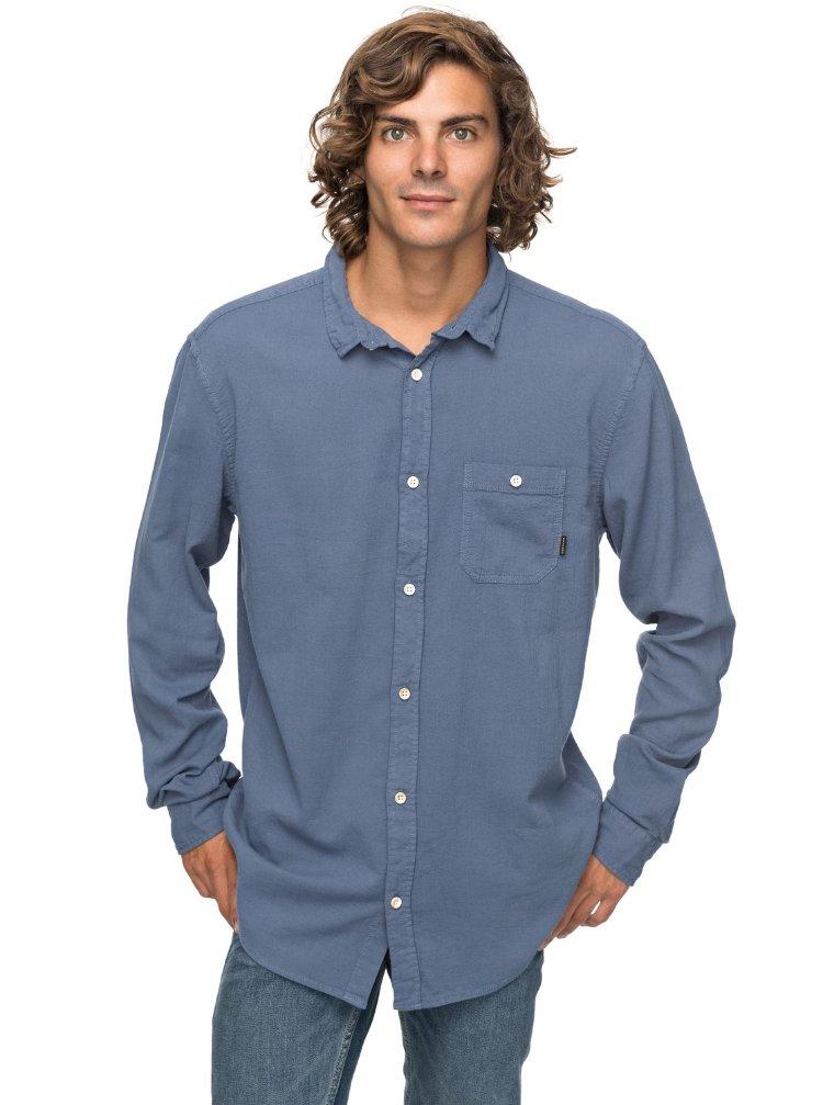 Купить Рубашка мужская QUIKSILVER Newtimeboxls M Vintage Indigo, Бангладеш