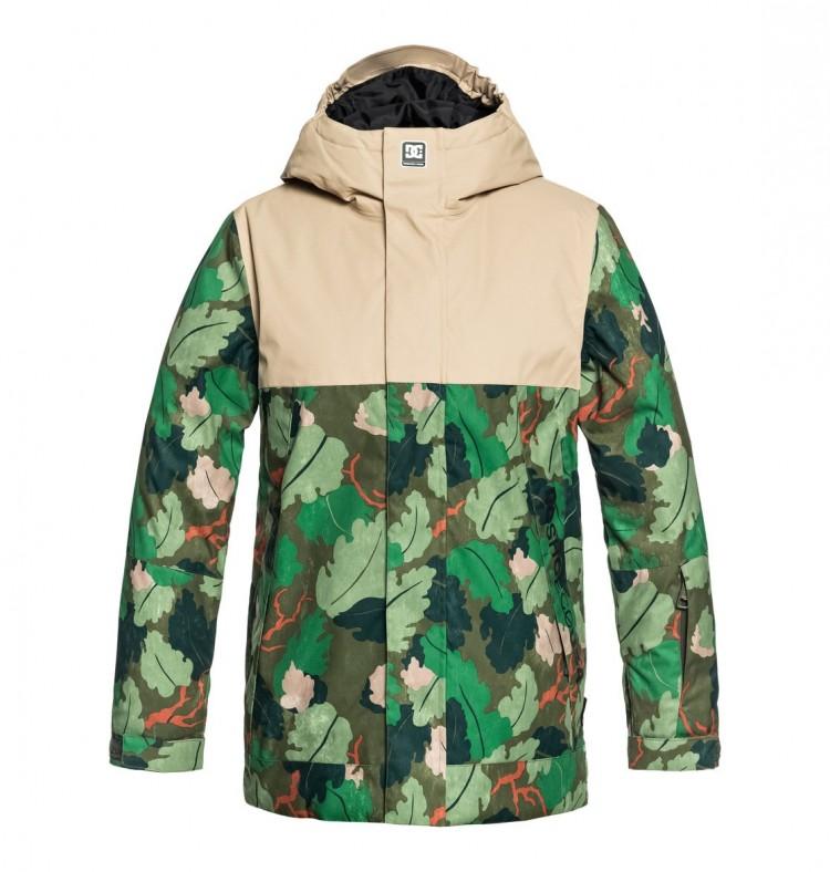 Купить Куртка для сноуборда детская DC SHOES Defy Youth Jkt B Chive Leaf Camo Youth, Китай