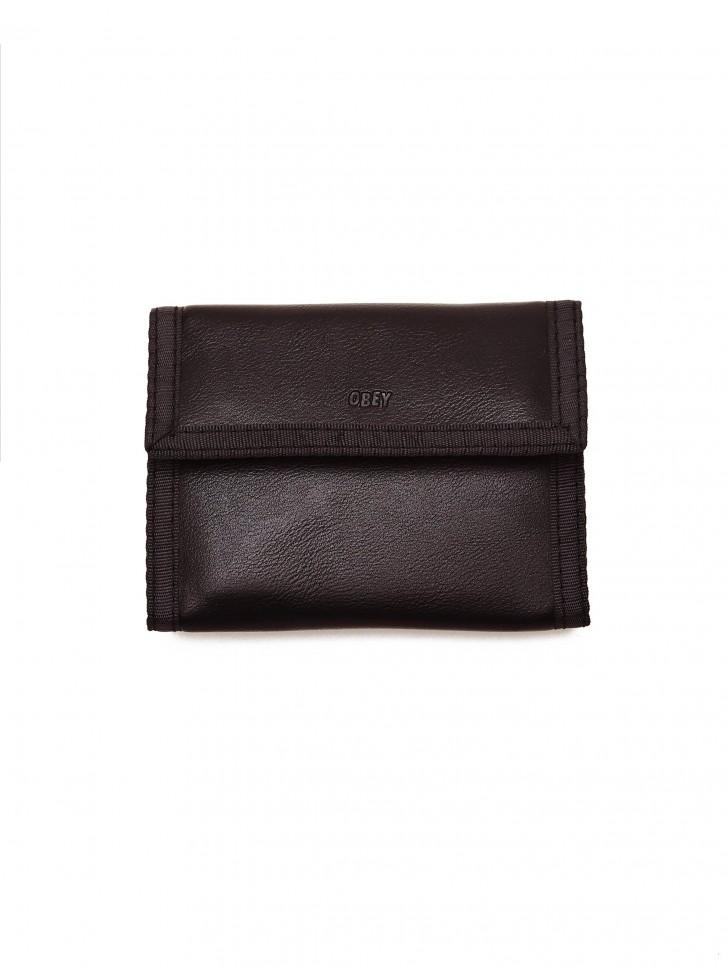 Бумажник OBEY Gentry Jumble Tri-Fold Wallet Black фото