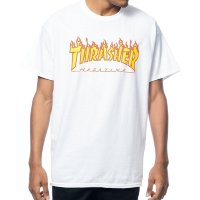 Футболка THRASHER Flame Logo White