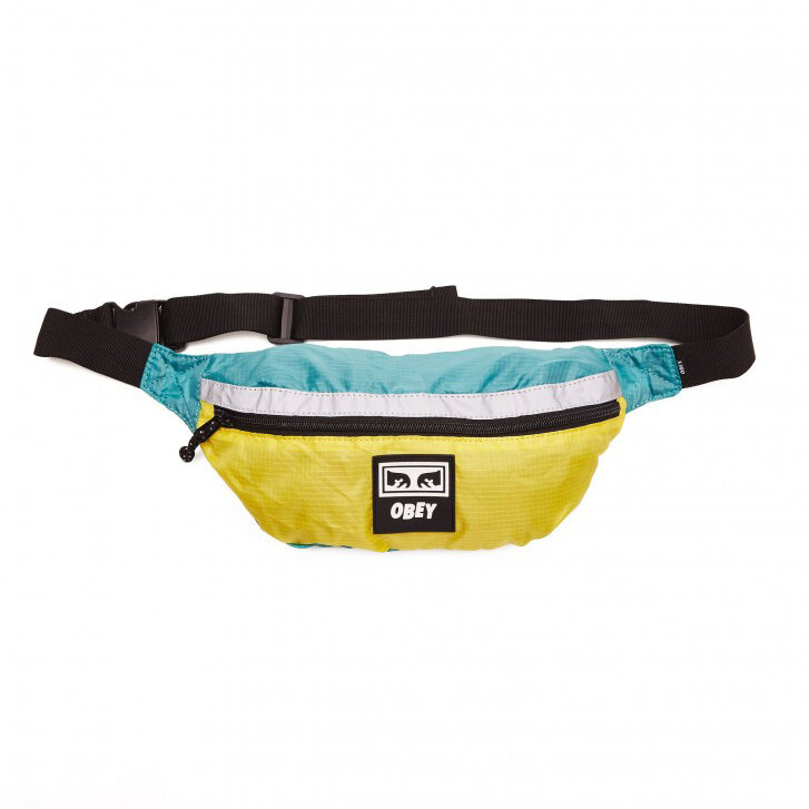 Сумка на пояс OBEY Ripstop Daily Sling Pack Aqua/Yellow фото