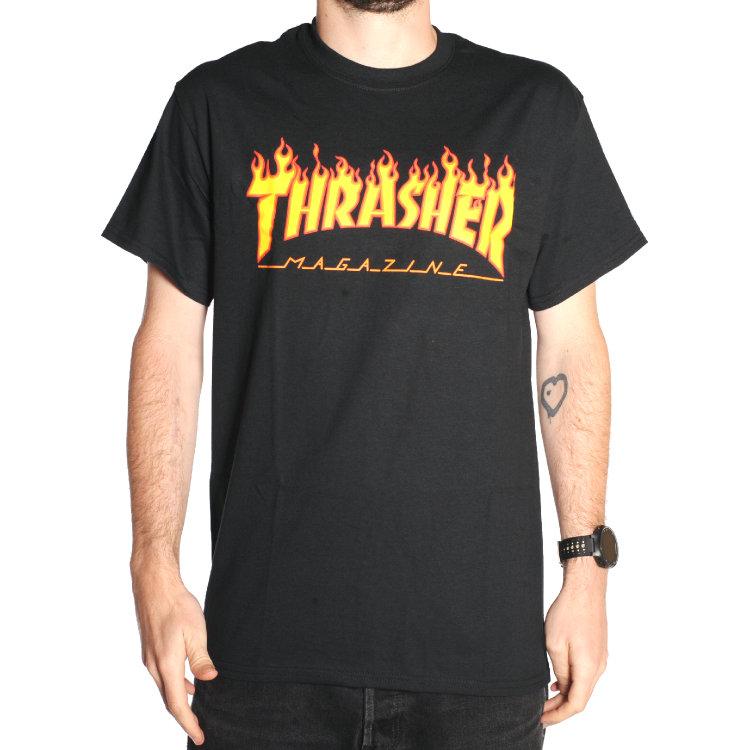 Купить Футболка THRASHER Flame Logo Black, Китай