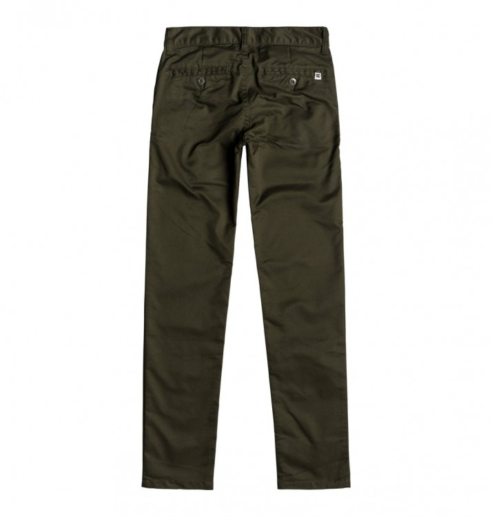 Брюки DC SHOES Worker Slim Boy B Dark Olive, фото 2