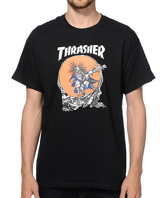 Футболка THRASHER Skate Outlaw Black 2020 фото