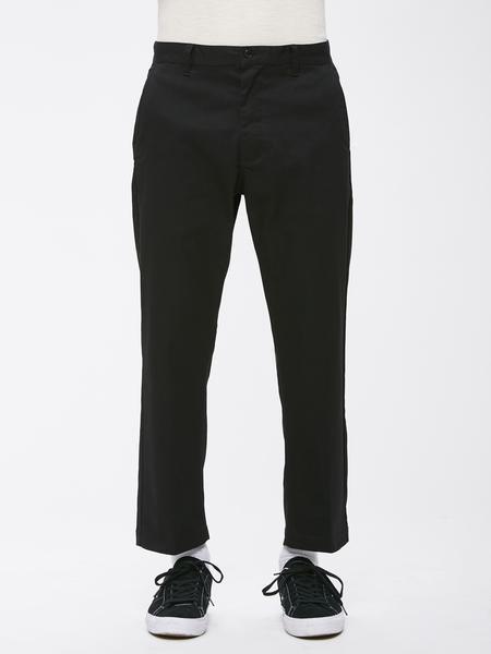 Брюки мужские OBEY Straggler Flooded Pants Black 2020 фото