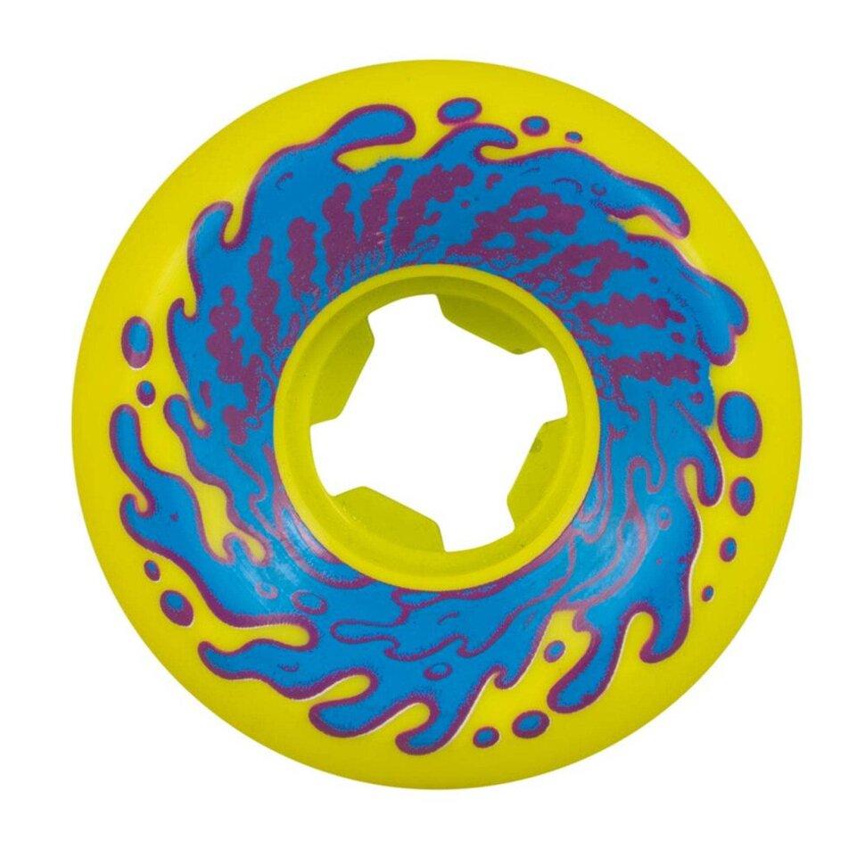 Колеса для скейтборда SANTA CRUZ Slime Balls Double Take Vomit Mini Yellow Black 97a 53 мм 2020 фото