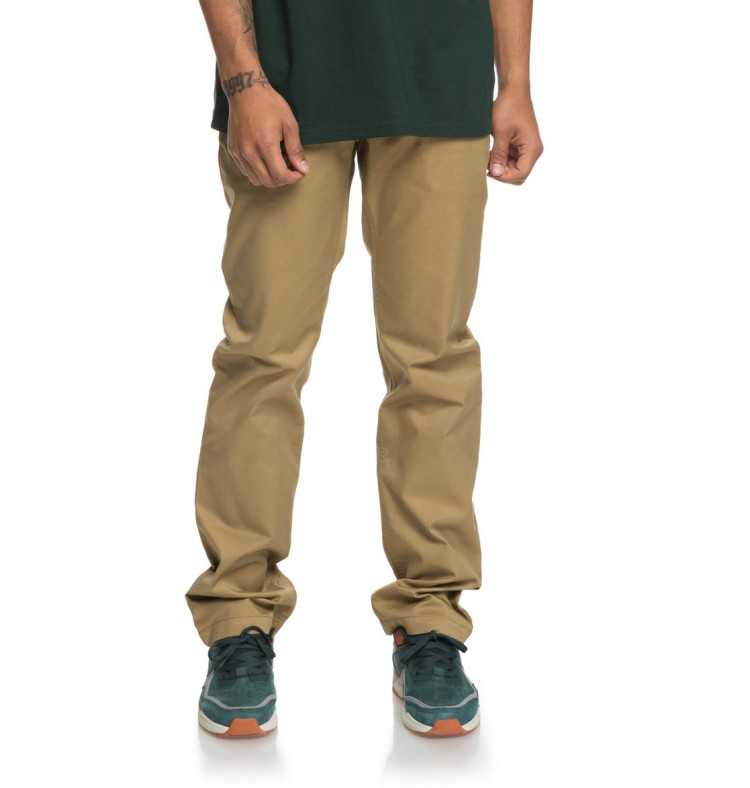 Купить Брюки DC SHOES Worker Straight M Khaki, Индия