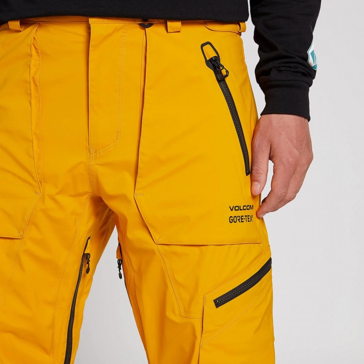 Штаны для сноуборда мужские VOLCOM Guch Stretch Gore-Tex Pant Resin Gold, фото 3
