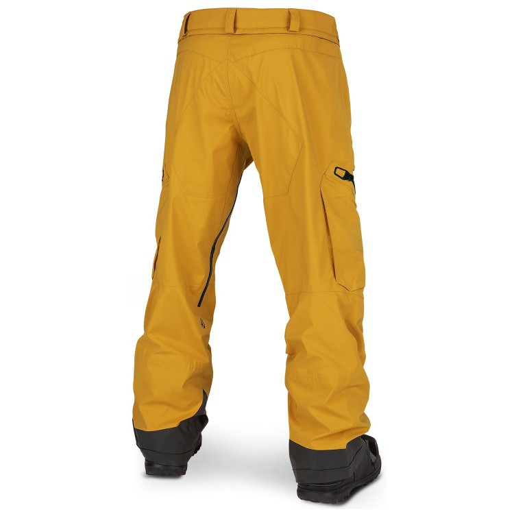 Штаны для сноуборда мужские VOLCOM Guch Stretch Gore-Tex Pant Resin Gold, фото 2
