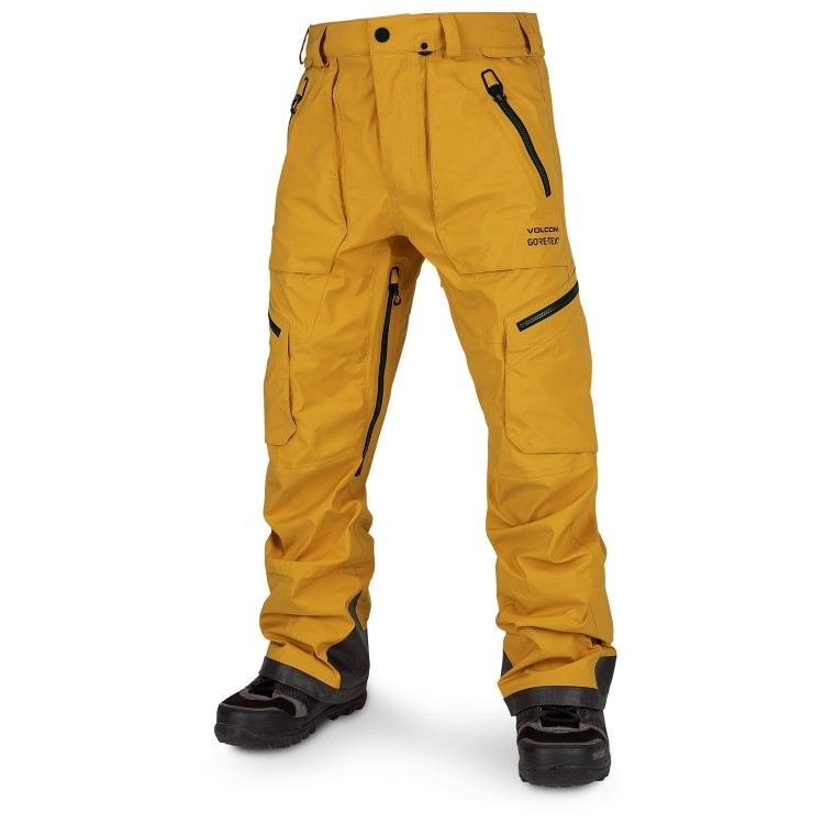 Штаны для сноуборда мужские VOLCOM Guch Stretch Gore-Tex Pant Resin Gold, фото 1