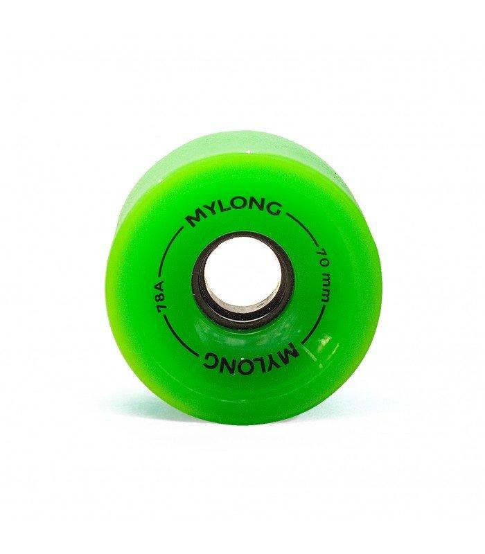 Колеса для лонгборда MYLONG 70x51 Зеленые С Лого 70 mm 2000000071251