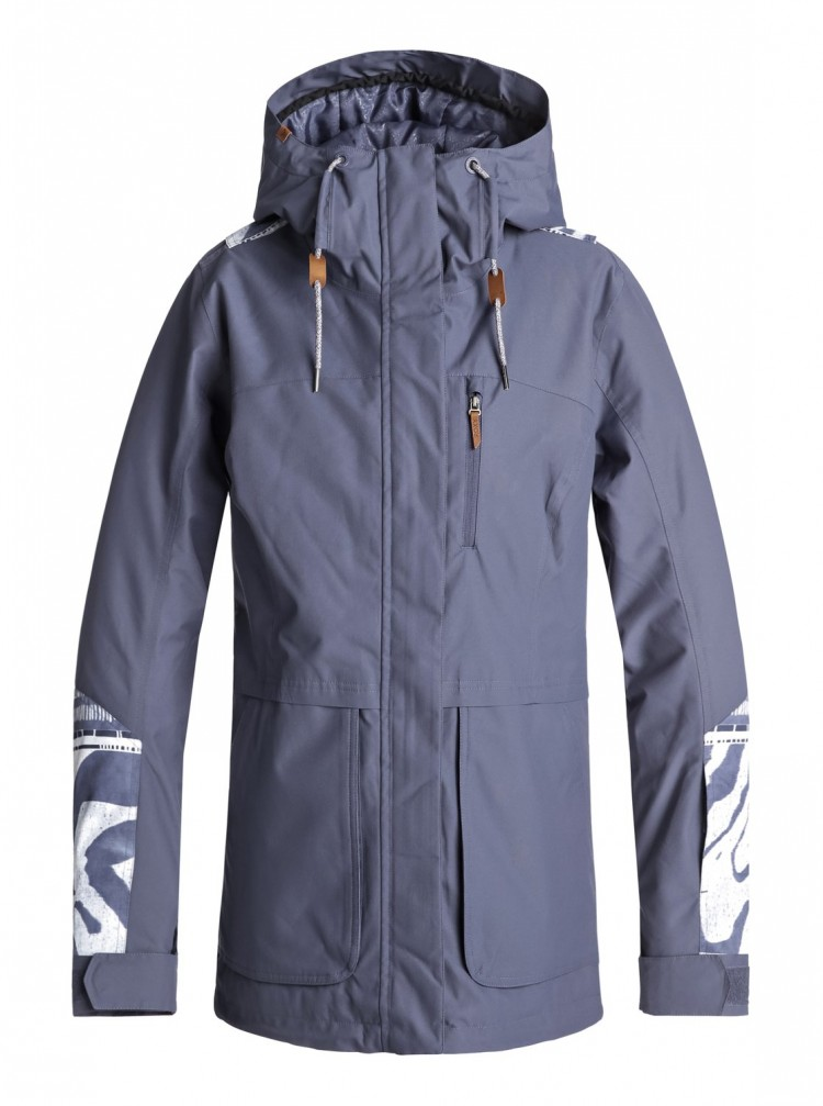 ff7b52e7532c Куртка для сноуборда женская ROXY Andie Jk J Crown Blue Wild Ethnic ...