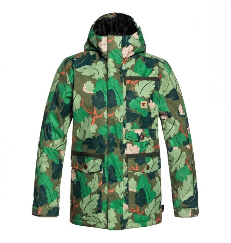Купить Куртка для сноуборда детская DC SHOES Servo Youth Jkt B Chive Leaf Camo Youth, Китай