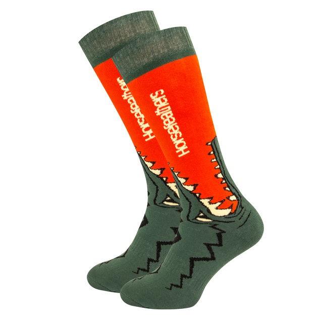 Носки мужские HORSEFEATHERS Croc Socks Red Orange