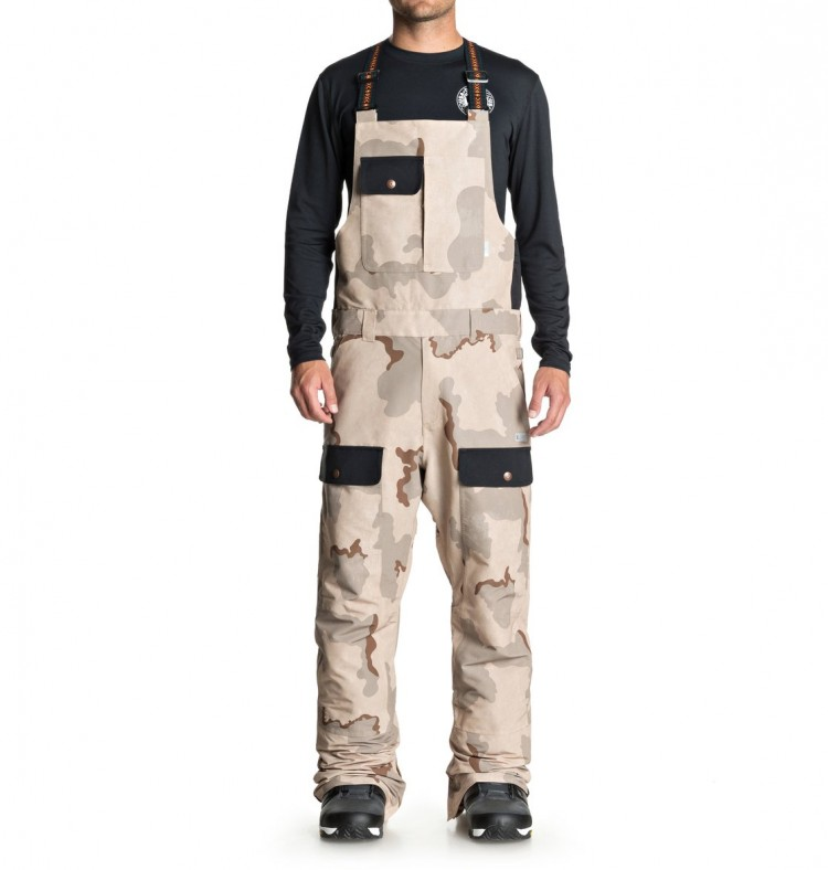 5711f4a896a5 Штаны для сноуборда мужские на лямках DC SHOES Platoon Bib M Incense Dcu  Camo Men