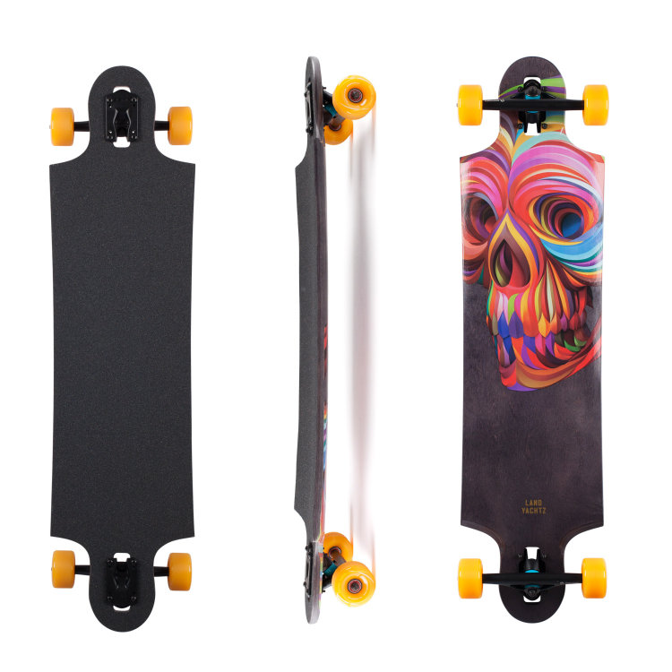 Купить Комплект лонгборд LANDYACHTZ Ten Two Four Complete Skull, Канада