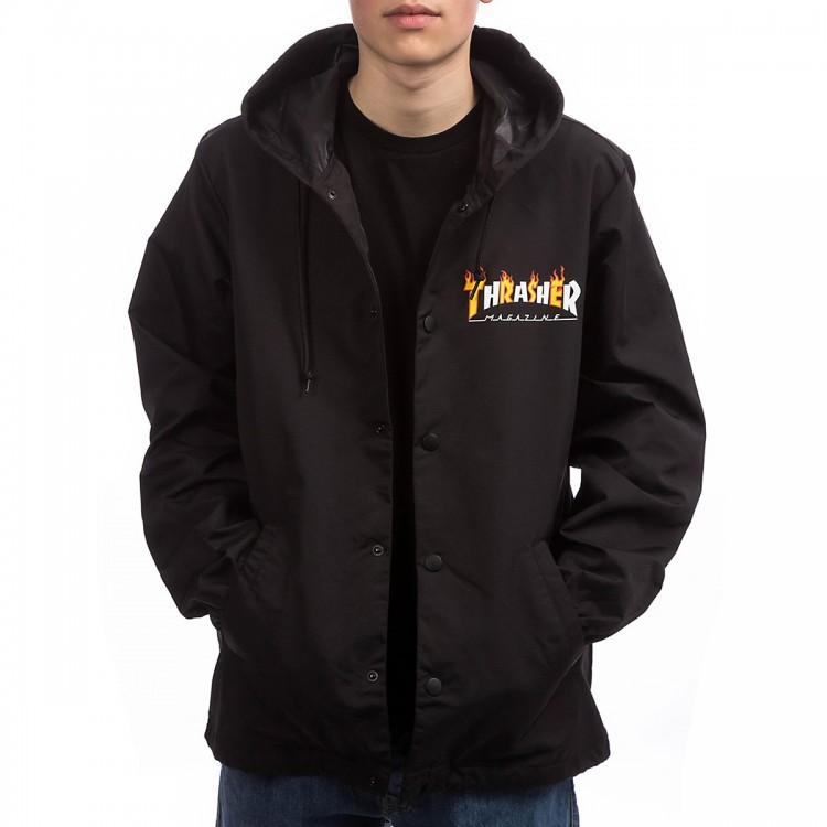 Купить Куртка THRASHER Flame Mag Coach Jacket BLACK
